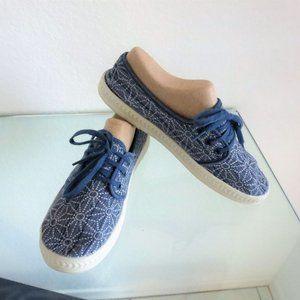 Rocket Dog DAINES Sneakers Star Flower Print Denim